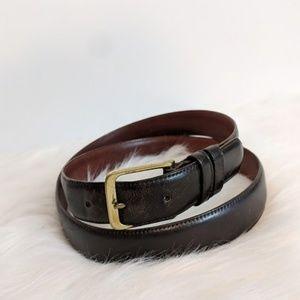Coach Mocha Gold Leather Belt